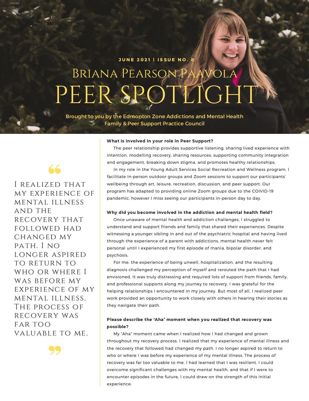 Peer Spotlight